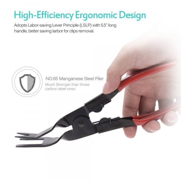 3 Pcs Clip Pliers Set & Fastener Remover - Auto Upholstery Combo Repair Kit with Storage Bag for Car Door Panel Dashboard